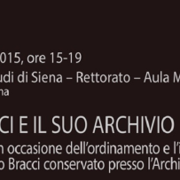 Seminario su Mario Bracci all'Università di Siena